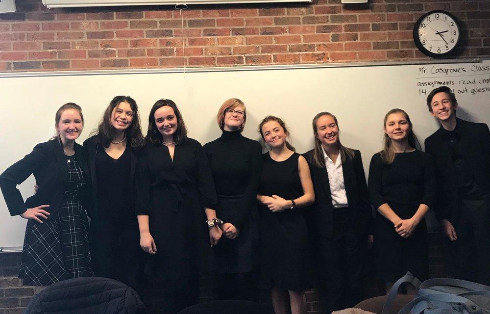 The Chesterton Academy Varsity Mock Trial Team