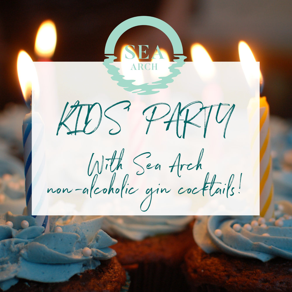Kids party with delicious Sea Arch non-alcoholic gin cocktails