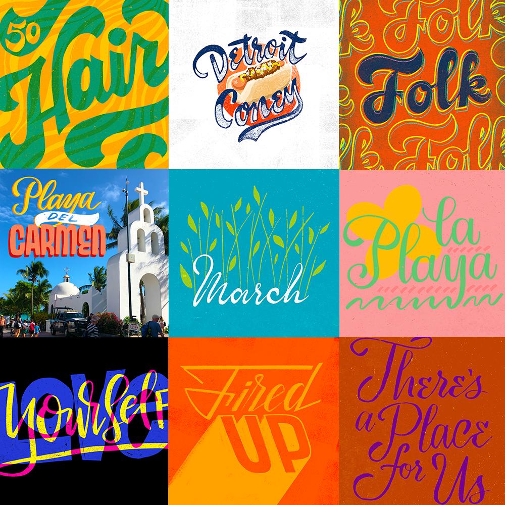 Custom lettering & design -