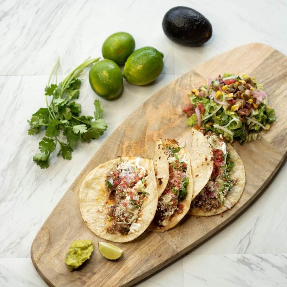 Mariposa - $15.25 per personTaco Bar3 tortillas per personGrilled Veggie SaladChips and Salsa