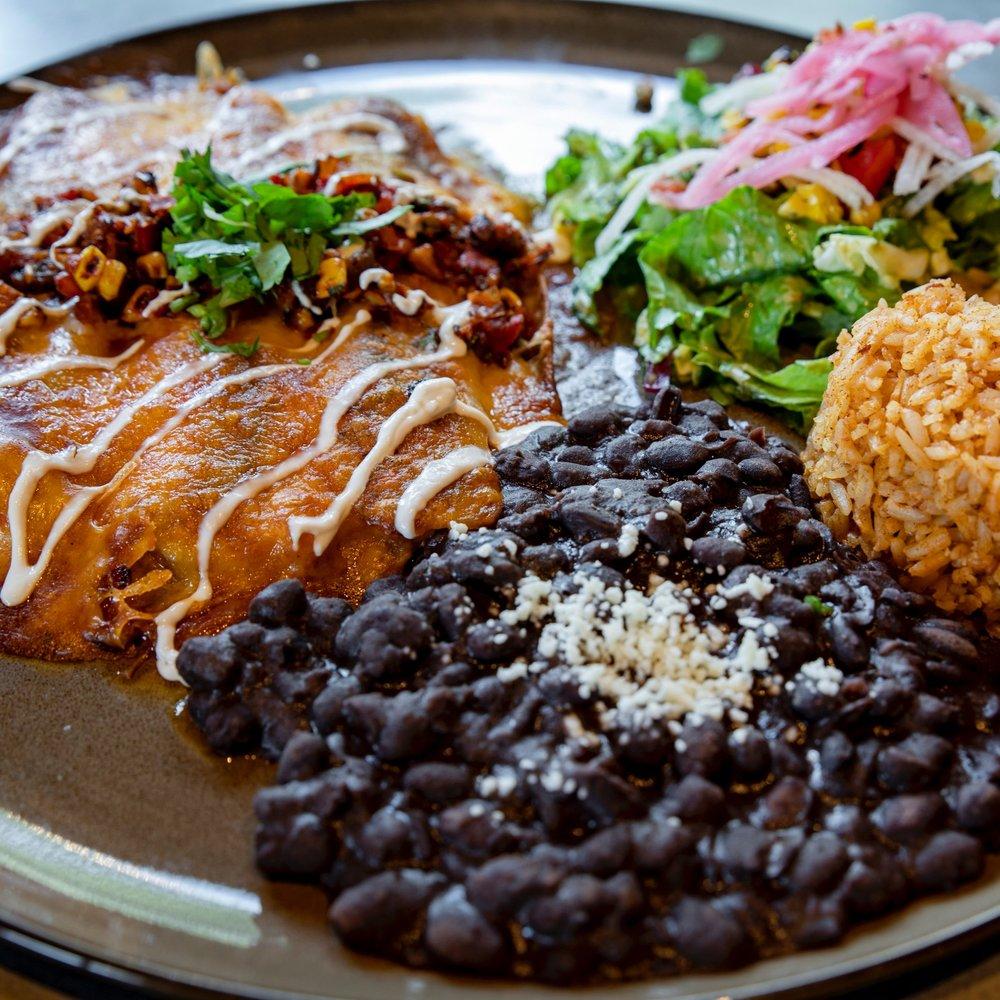 Fiesta - $19.50 per personTaco Bar2 tortillas per personGrilled Veggie SaladSmoked Pork or Chicken EnchilladasRice and BeansChips and Salsa