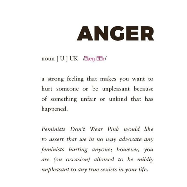 It's okay to be angry as long as you turn that anger into ACTION! Our book #feministsdontwearpink is broken up into the 5 stages of feminism and anger is definitely one of them!  #FDWP 👫❌👚 #feminist #girlpower #women #womenempowerment #intersectionalfeminism #feminism #girl #feministquotes #feminismquotes #quotes #quotestoliveby #strongwomen #pinkfeminist #feministsdontwearpink #girlup #girlupcampaign #bookstagram #freeperiods