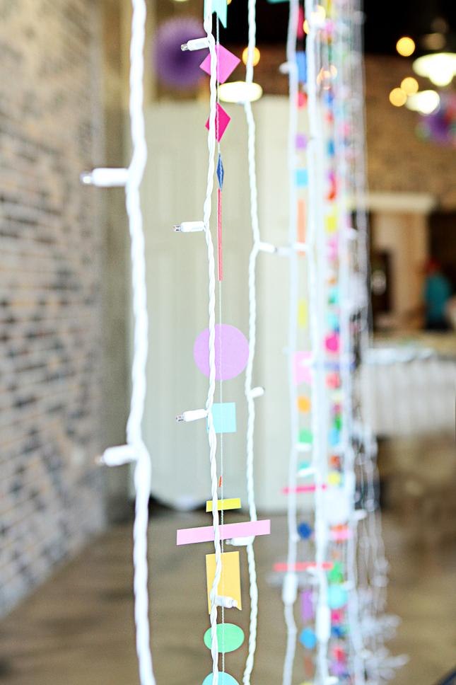 Fun confetti garland and other ideas for a confetti party!