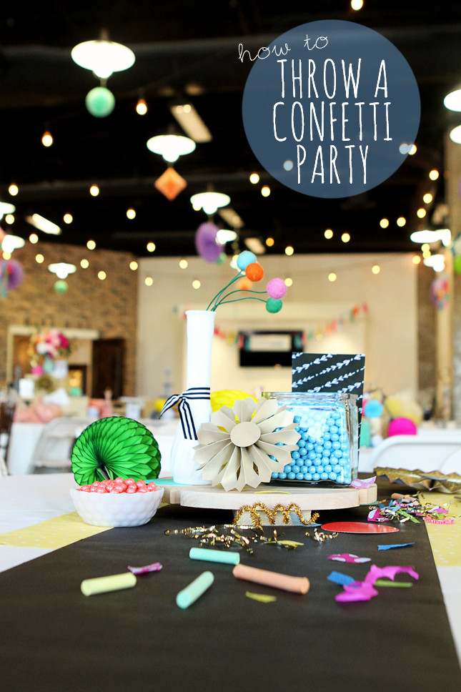Awesome ideas on how to use confetti in your next party! Throw a confetti party!