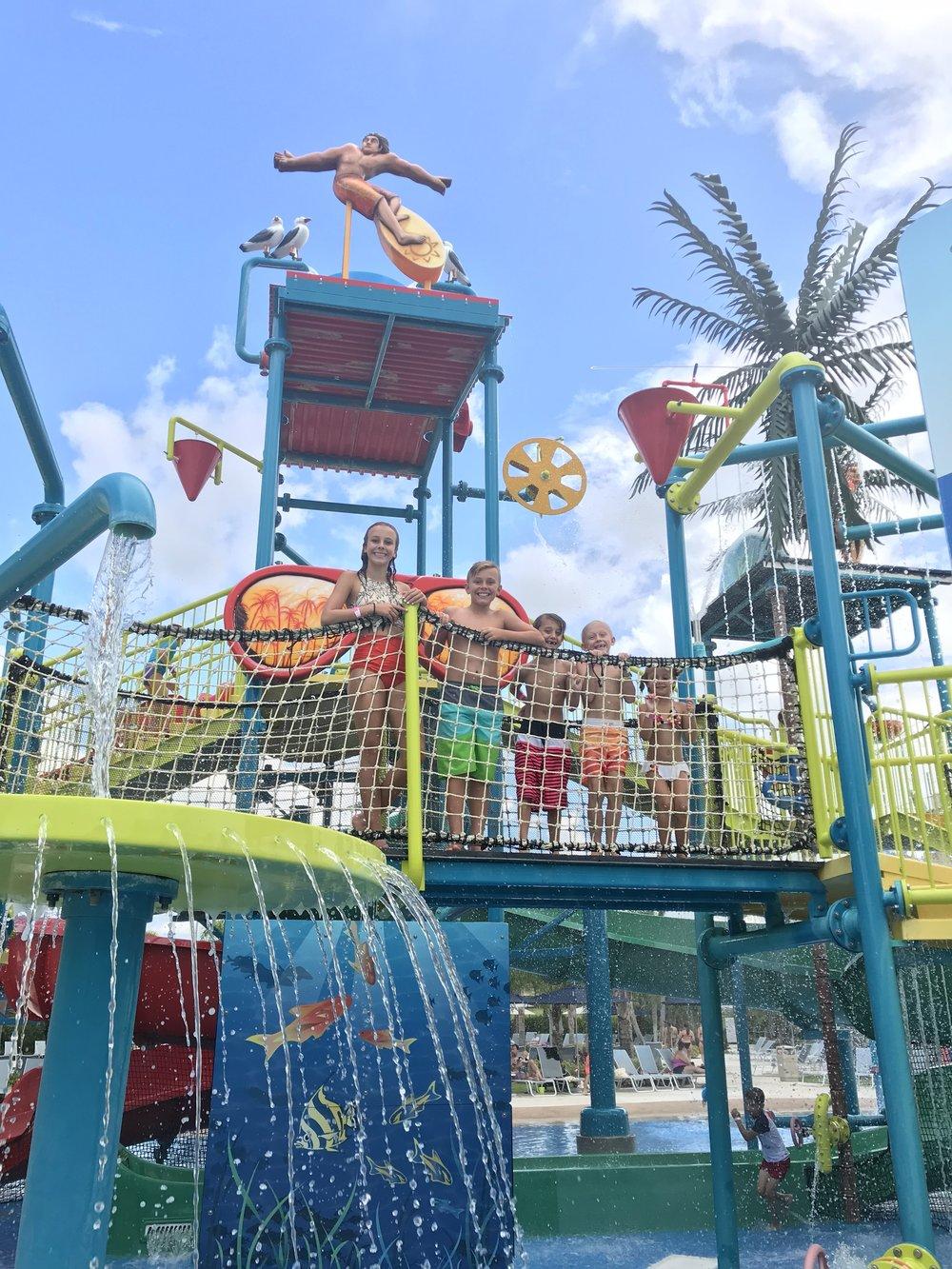 Orlando Resort waterslide pool area