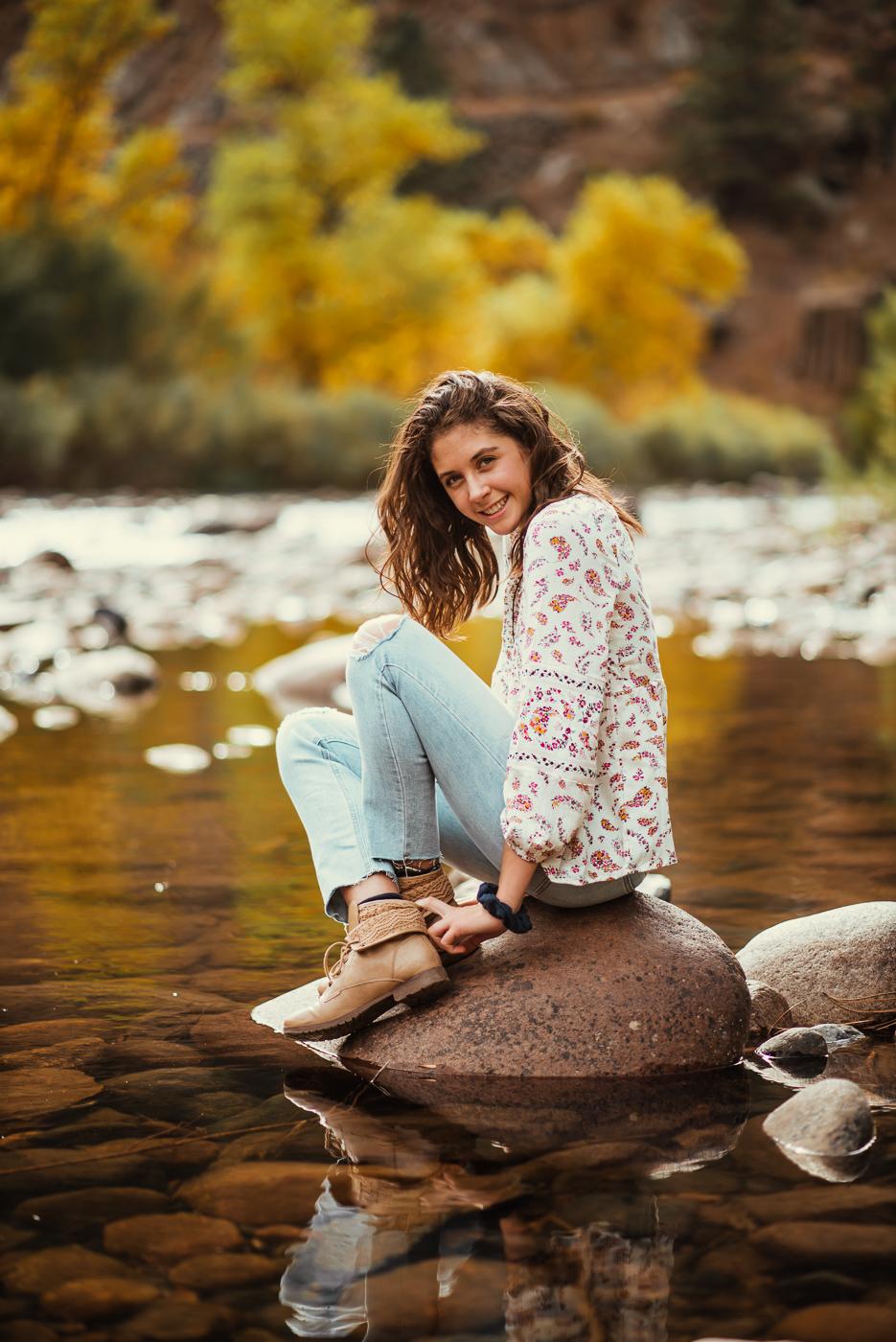 PHOCO Photography Fort Collins Colorado Senior Portraits Fall Gateway Natural Area Yellow Fedora Autumn River-3.jpg