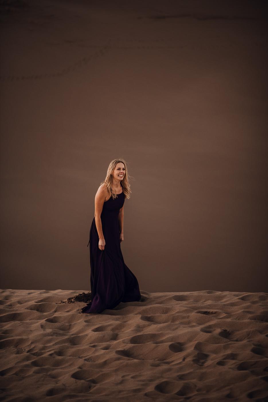 Great Sand Dunes Engagement Session PHOCO Photographer Colorado Flowy Dress Dark Moody-9.jpg