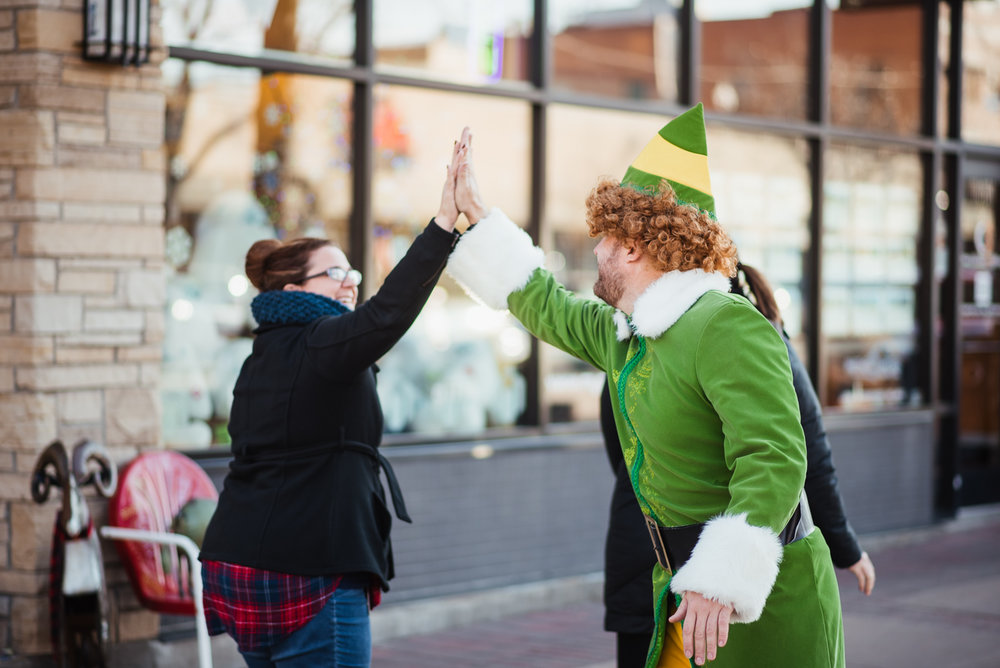 PHOCO Christmas Card Colorado Old Town Fort Collins Photographer Buddy the Elf BTS-5.jpg