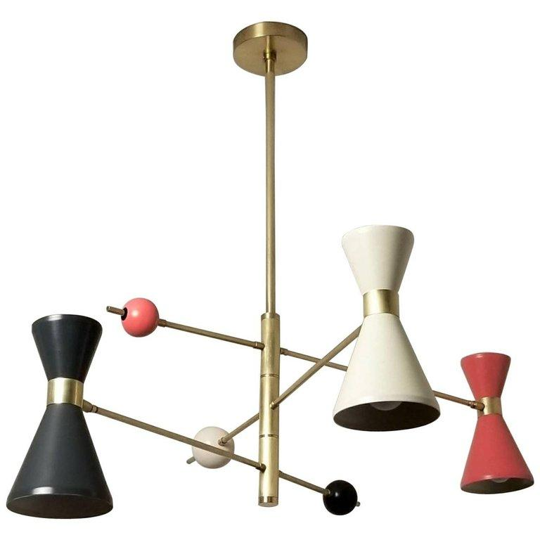 Campana 3 Arm - $3200.00As Shown: Natural Brass, Perfect White, Intrepid, and Lip Stick