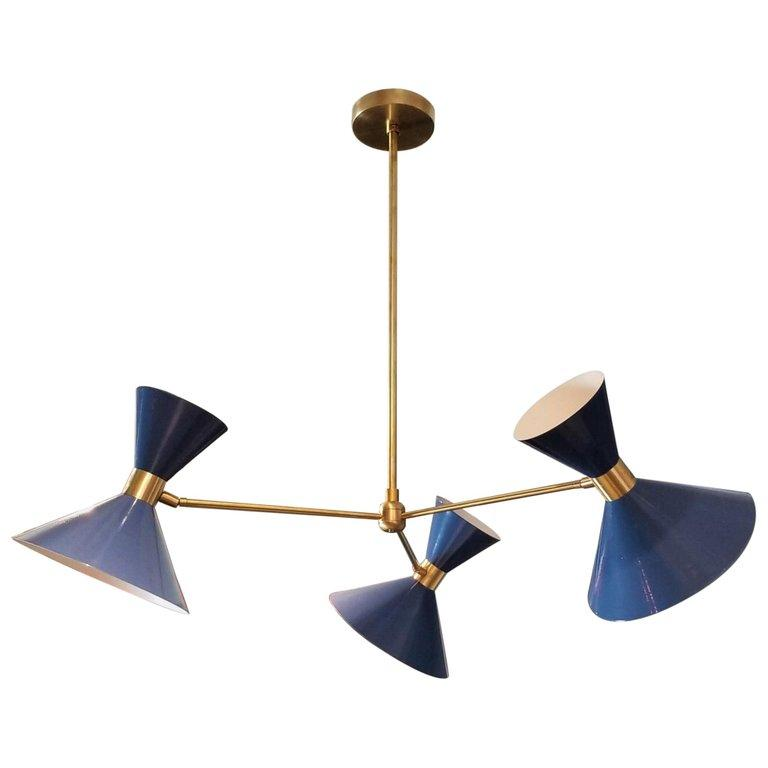 Monarch 3 Arm - $2200.00As Shown: Natural Brass and Greece Blue