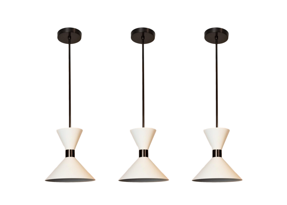 Monarch Pendant - $795.00As Shown: Oil Rubbed Bronze and Perfect WhitePriced individually