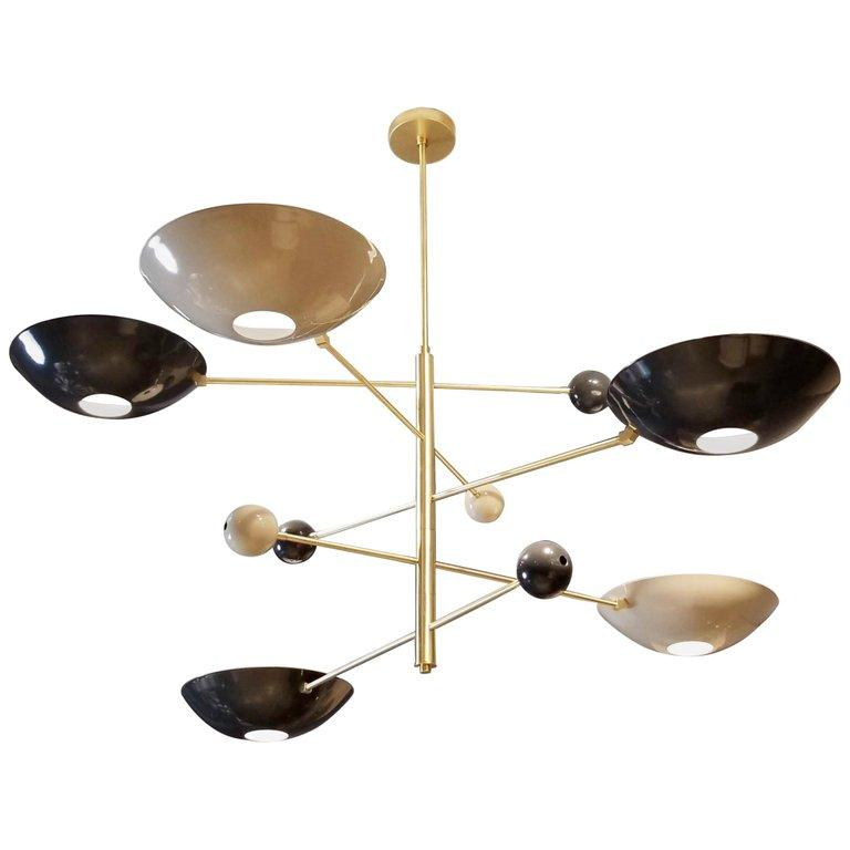 Catalonia - $6700.00As Shown: Brushed brass, Perfect White, & Black.