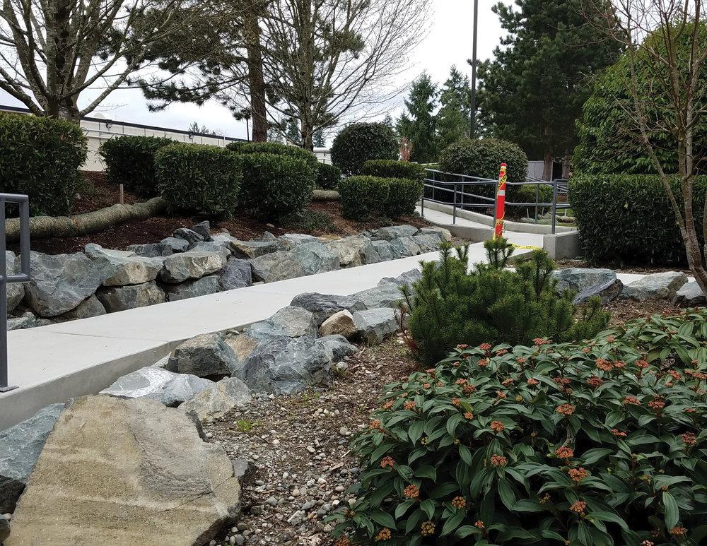 Progress on ADA ramp.