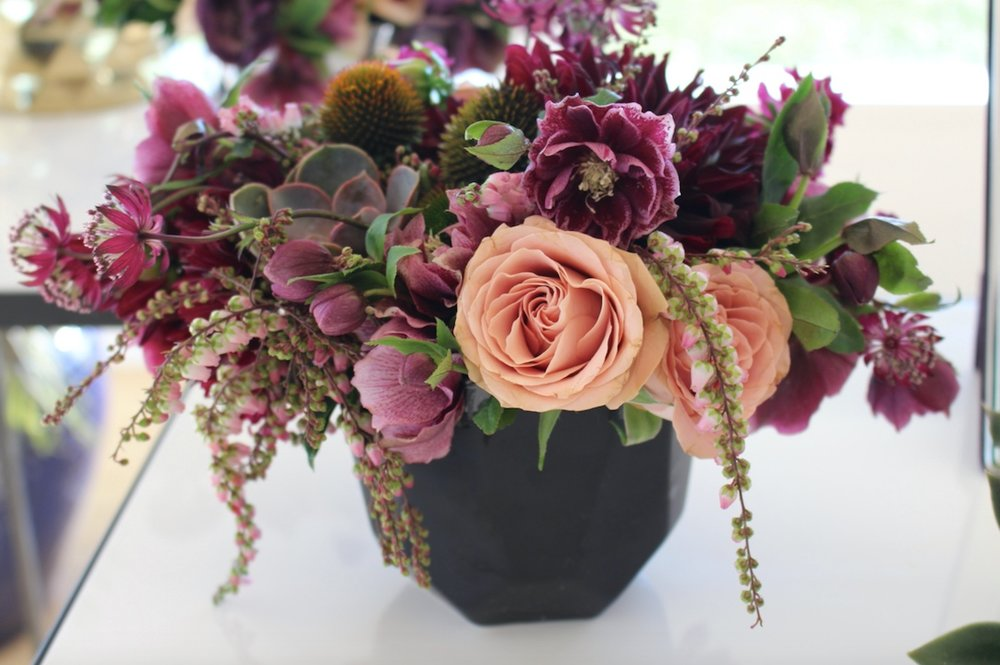 Purple and Peach Floral Arrangement