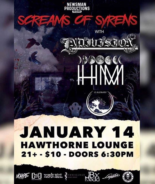 🌹 Portland 🌹 . Tomorrow night we are sharing the stage with @screamsofsyrens @hvngermoon and @us_underwater at the Hawthorne Lounge . Doors at 6:30pm // 21+ // $10 door . Let's party !!! . . #indivisionfl #NDVSN #metalcore #videographer #dronephotography #hawthornetheater #pdx #core #djent #oregon #metal