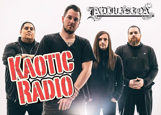 🔥 TONIGHT 🔥 LIVE ON AIR . Tune in to www.KaoticRadio.us at 7pm pst (10pm est) as we go live on Kaotic Radio to talk about tour stories, the new album, sponsors and how Indivision all got started while being streamed live on camera !!! . You can also call in at 909-360-2828  And ask us questions so let's get it !!! . @indivisionfl @kaoticradio . #indivisionfl #NDVSN #kaoticradio #live #radio #podcast #onair #metalcore #screamo #metal #djent #hardcore #ernieball #iplayslinky #espguitars #hosatech #sullenclothing