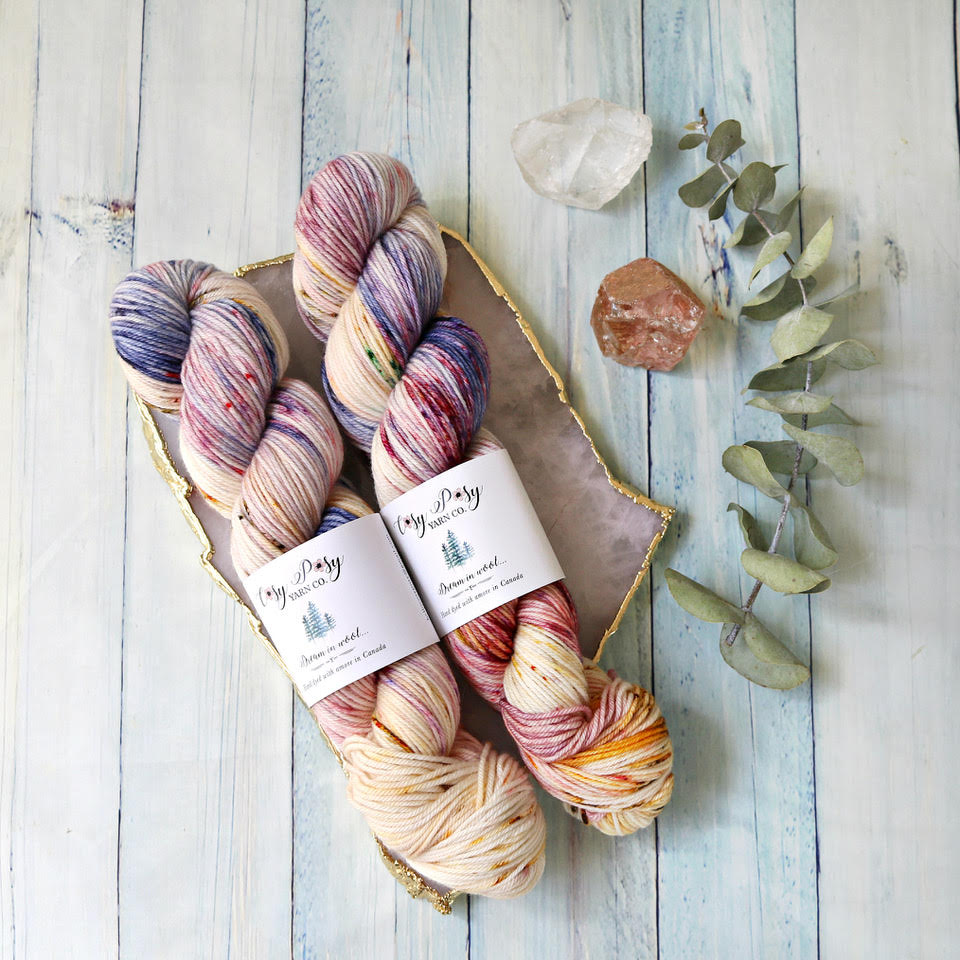 Squish - $36 CAD - 100% Fine Superwash Merino115 g = 228 m (250 y)4 ply DKOur Squish base is a fine superwash merino with a nice twist. If you're looking for the squishiest yarn in the world…this is it.
