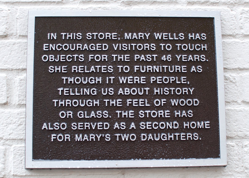 Mary Wells' plaque as installed.