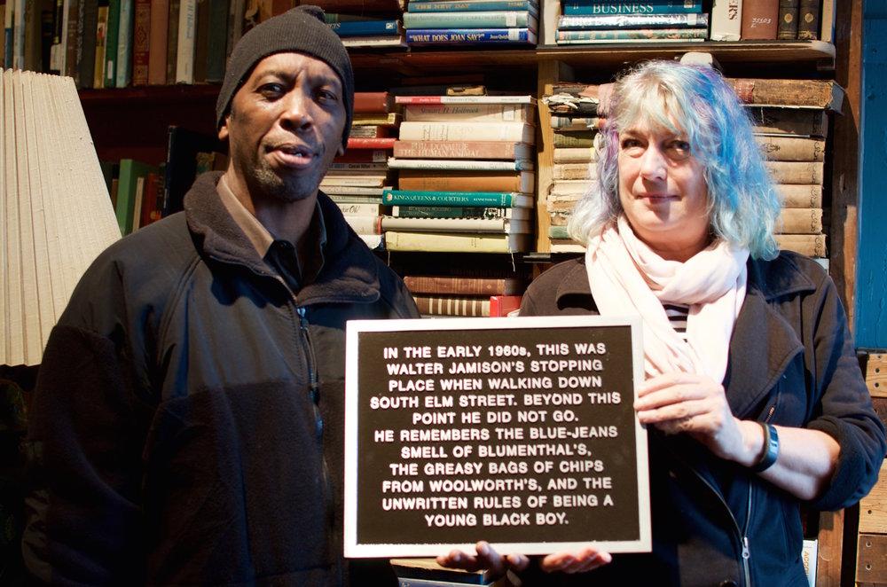 Walter Jamison & Liz Seymor with Walter's plaque.