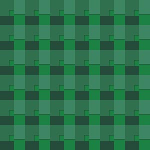 The same pattern shifted to forest greens