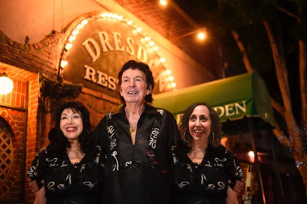 Elayne, Marty, and Jennifer outside of The Dresden in Los Feliz. (This picture is a complete fake, but pretend it's real.)