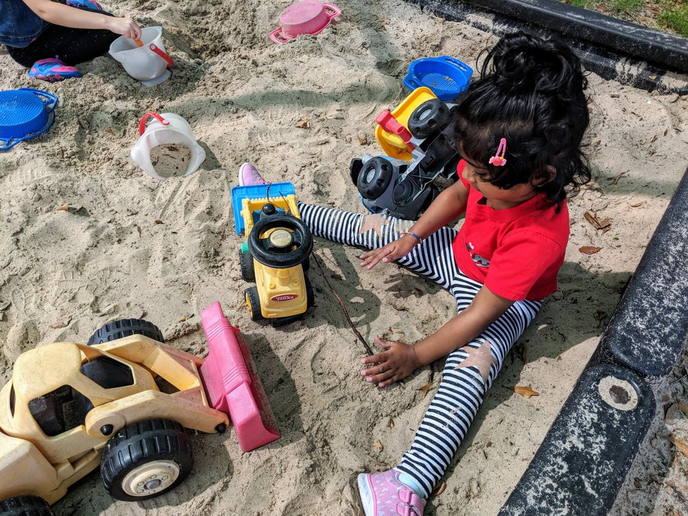 Sandbox on Preschool playground
