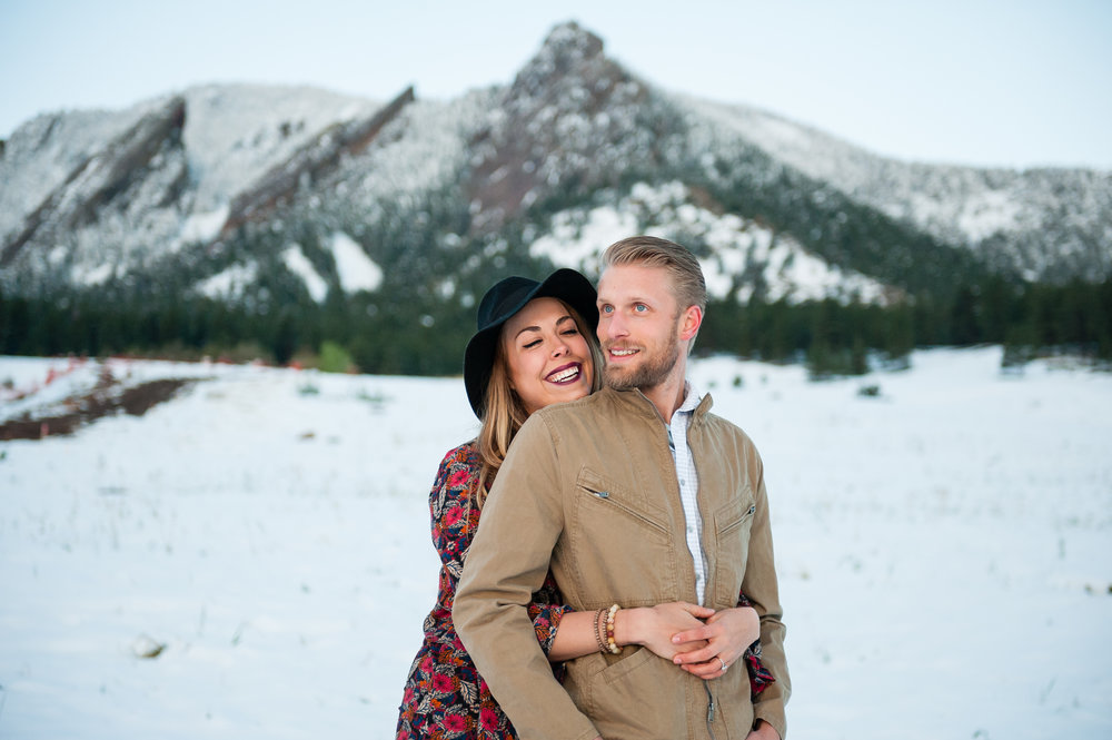 Boulder Colorado Winter Elopement Photographer