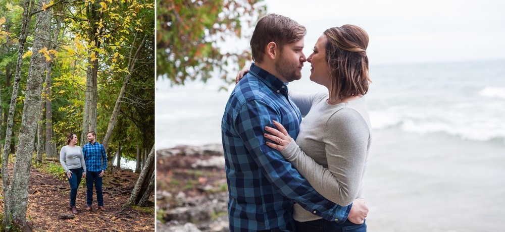 Door County Engagement Photo Session, Wisconsin Photographer