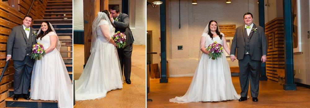 Schauer Arts Center, Milwaukee Winter Wedding | Intimate Wedding Photographer | KLEM Studios