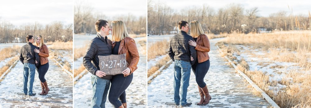 Wisconsin Winter Engagement Session,  Green Isle Park | KLEM Studios, Wedding + Boudoir Photographer