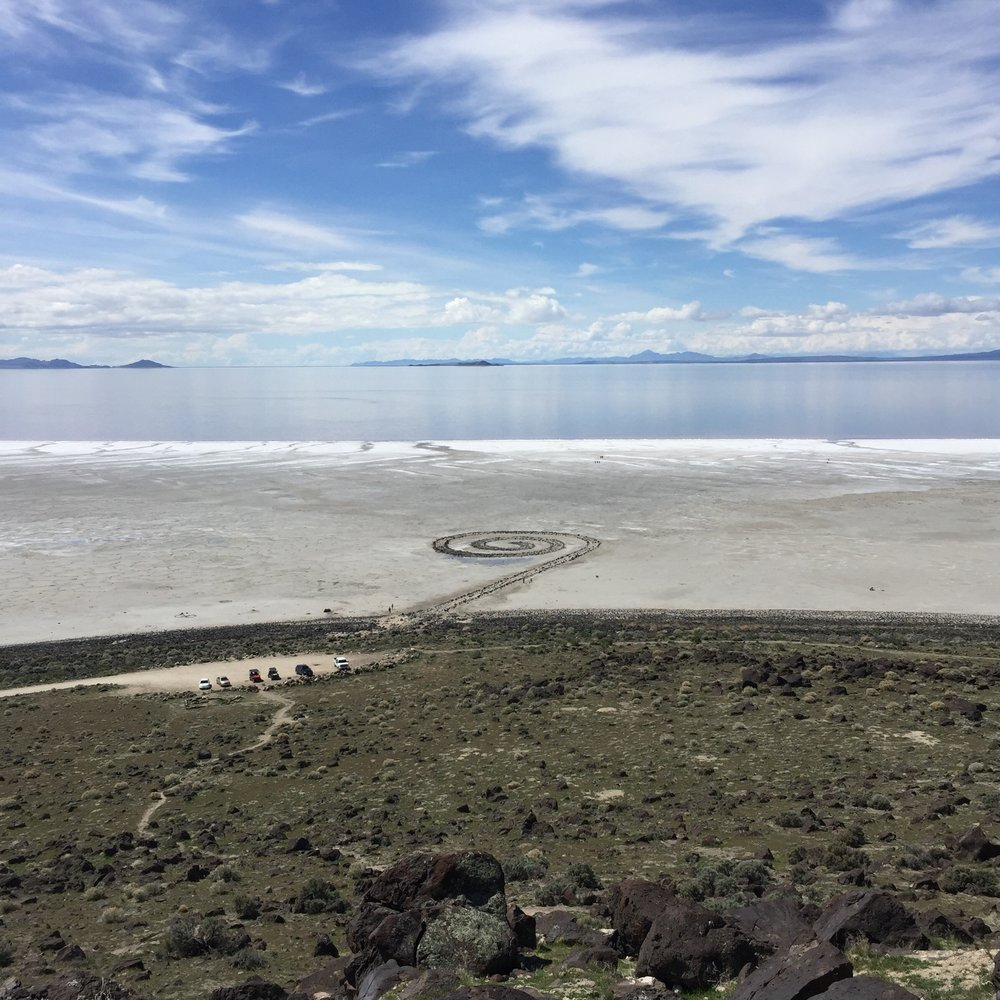 The Spiral Jetty is about a 2.5 hour drive from Salt Lake City