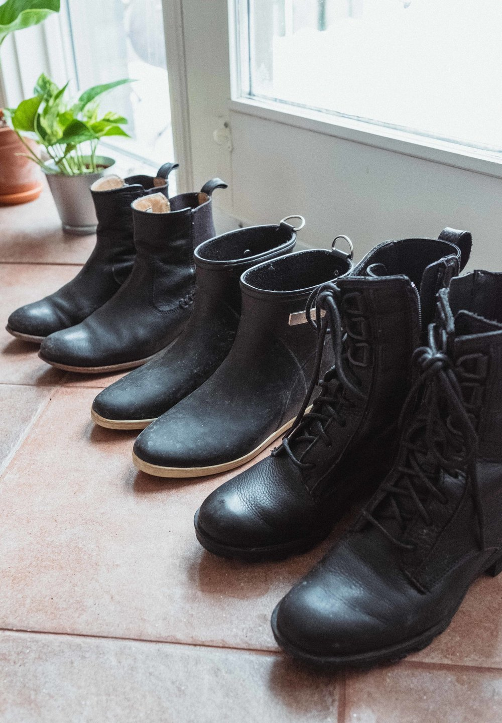 Far left: Frye Middle:  Alice + Whittles  Right: Sorel