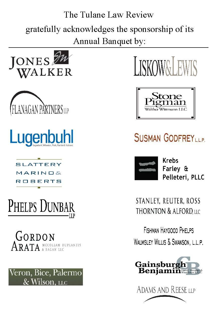 2013 Banquet Sponsors