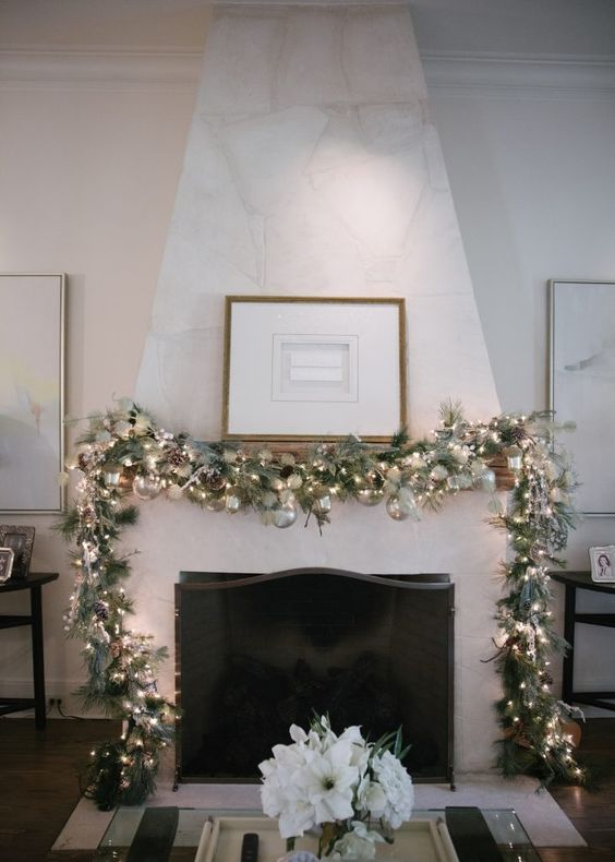 holiday decor guide - fireplace mantle garland .jpg