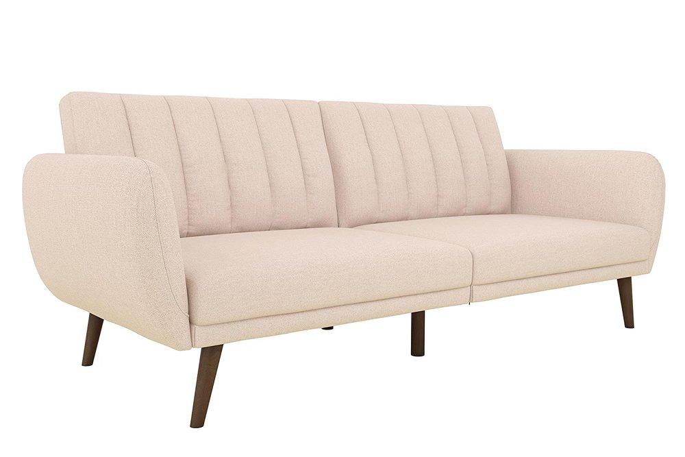 Novogratz Brittany Sofa Futon  in Pink Linen