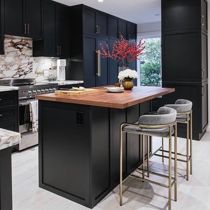 karin bohn, black kitchen, designer kitchen