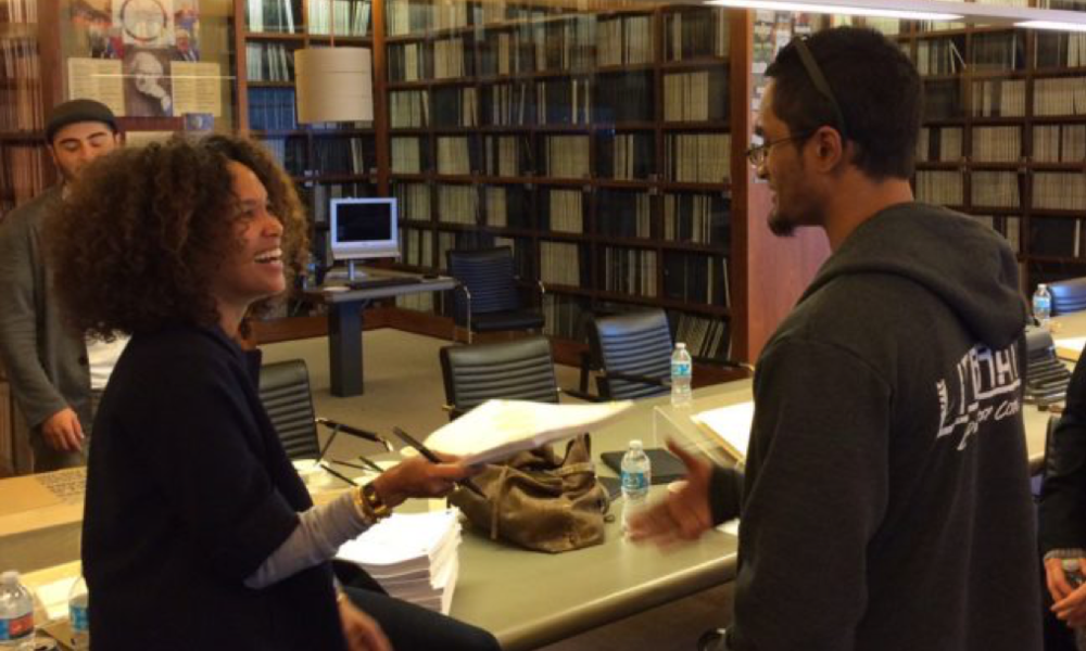 Photo: BEING MARY JANE creator    Mara Brock Akil    volunteered her time to give a talk with Get Lit!'s Literati Corps.