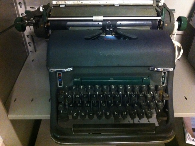 Bloch Typewriter in archive