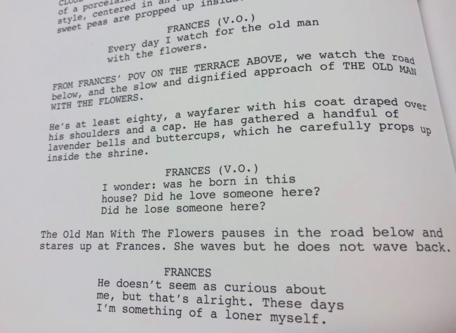 film and TV scripts, as well as