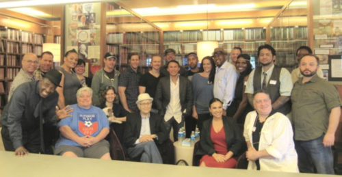 A group of Veterans Writing Project alumni with TV legend Norman Lear and co-showrunner of Netflix's ONE DAY AT A TIME Gloria Calderon Kellett on November 2016.