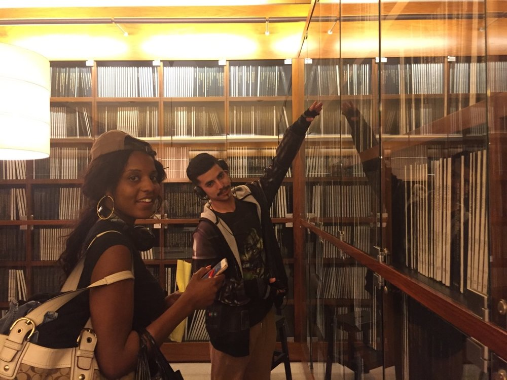 Students from InsideOUT Writers visiting the WGF Library in June 2017.