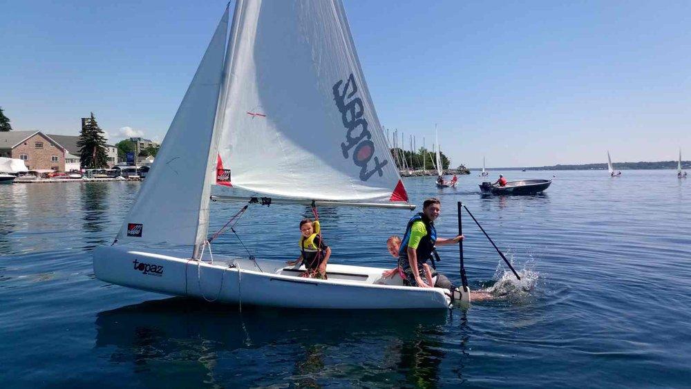 Brockville Yacht Club Sailing School goofing around skipper fun activity.jpg