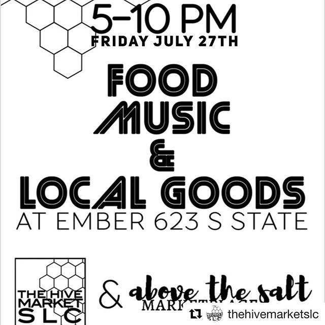 We're participating in a very cool market this Friday, come check us out and all these other amazing vendors!  #Repost @thehivemarketslc with @get_repost ・・・ Friday night fun! Come start your weekend checking out your local crafters, collectors and creators! It's July 27th @emberslc 623 S State. @tera_star_art @deadbinky @squidvishuss @forthesweet @alpineearthworkspottery @yellowyarrowapothecary @fluorescentgreyvintage @trashpaca @kand.clothing @roselinepottery @crewel_art @sharliestreats @big_mountain_alchemy @metta_and_minerals @2vagabonds @opusleathercraft @tothetdesign30 @granarybakehouse_slc @saltcityframing @the.stash.project @thebohemeproject @chiix.co @under15resale @greenthreadherbs @innerspacism  #saltlakecity #slc #slcevents #801 #utah #utahisrad #utahgram #igutah #beutahful #exploreutah #utahunique #utahartist #slcartist #handmade #memade #upcycled #memadeeveryday #thatsdarling #postitfortheaesthetic #sewcialist