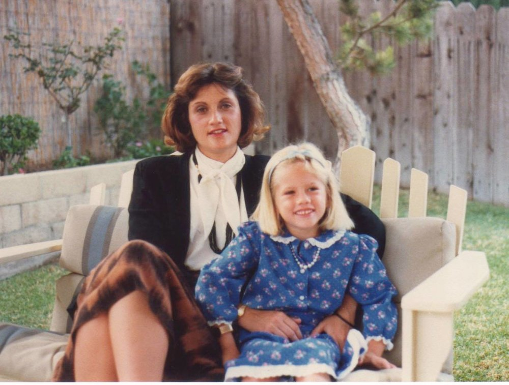 Christina and her mom, Kathy, at their house off Mistletoe Avenue in Chino.
