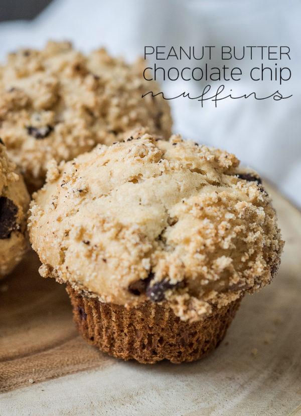 Peanut Butter Chocolate Chip Muffins | Follow the Ruels