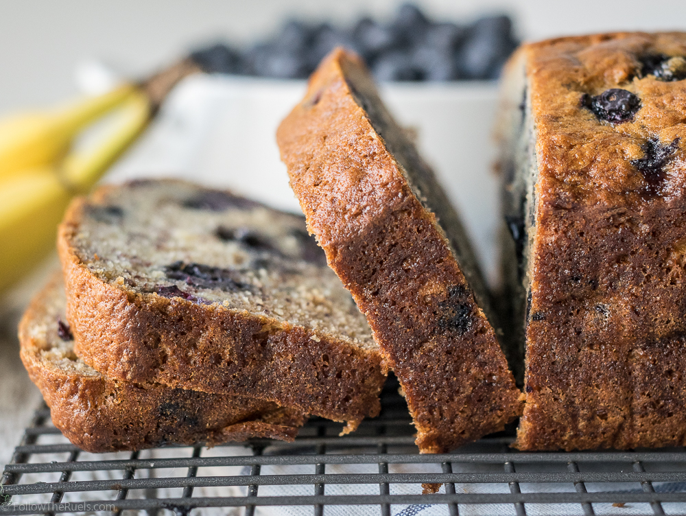 Blueberry Banana Bread-6