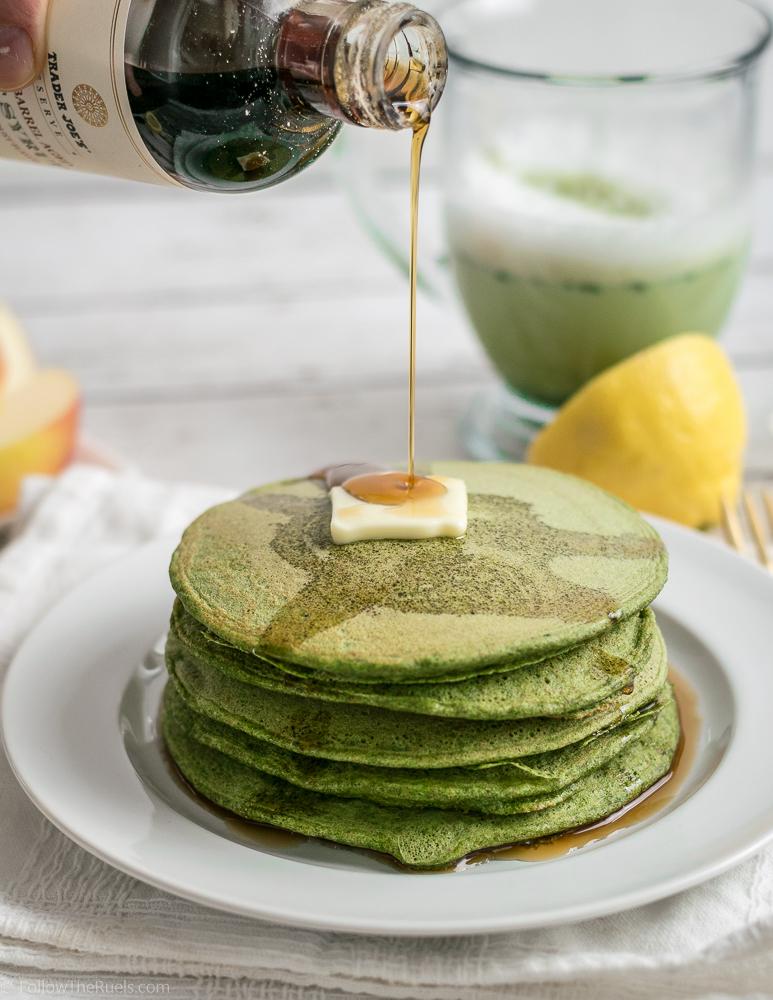 Fluffy Green Pancakes