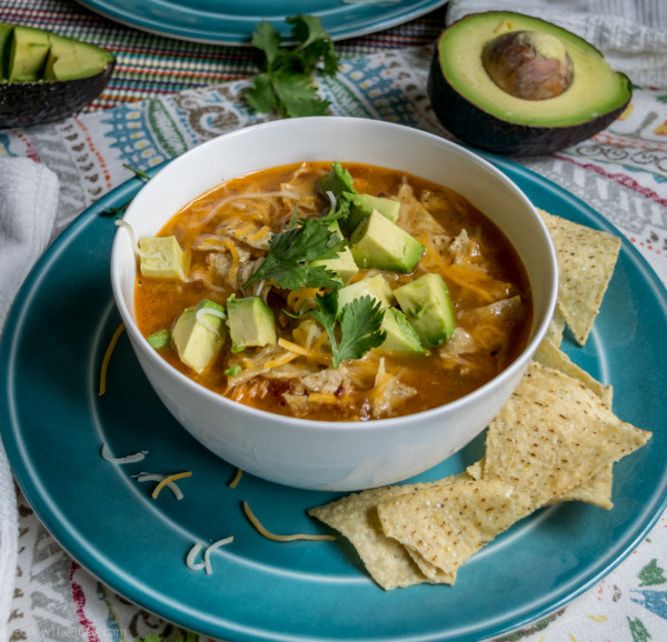Cheesy Chicken Enchilada Soup Recipe for the Slow Cooker