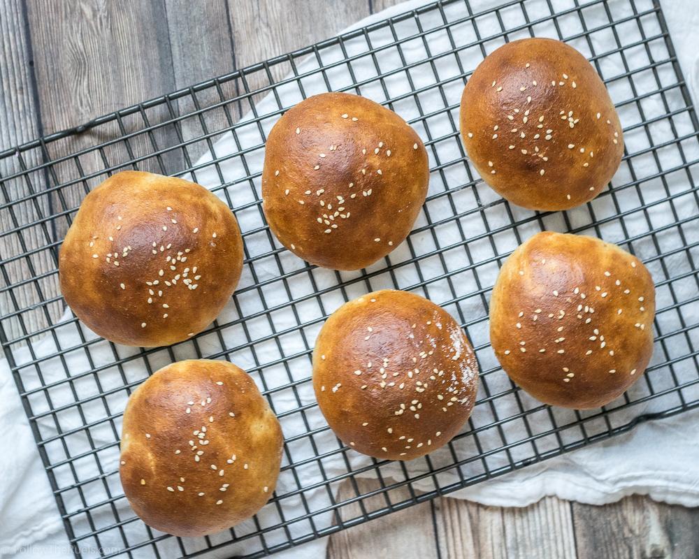 Homemade Whole Wheat Burger Buns