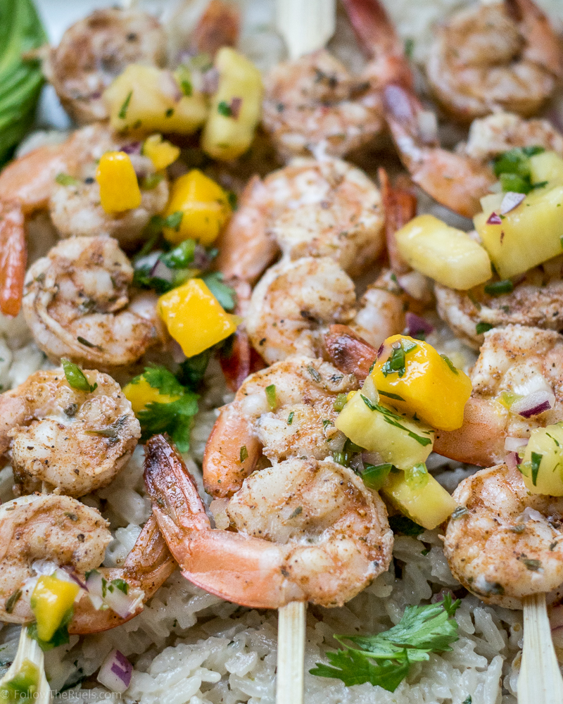 Jamaican Jerk Shrimp Skewers